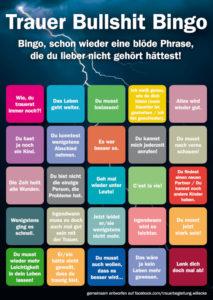 Trauer Bullshit-Bingo Karte